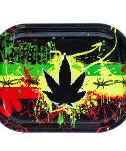 Cannabis Leaf Rolling Paper Tray