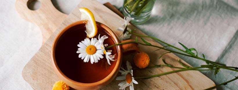 Rose and Chamomile Cannabis Tea
