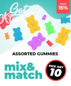 Assorted THC Gummies – Mix & Match – Pick Any 10