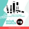 THC Vape Cartridge Party Pack (510 Thread) - Pick Any 5